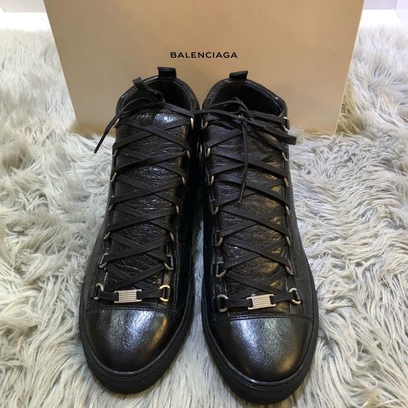 b4df7e615683 Balenciaga Other - Men s Balenciaga Arena Creased Leather Sneakers
